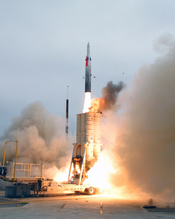 Arrow anti-ballistic missile system, developed in partnership with the United States