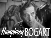 Cropped screenshot of Humphrey Bogart from the trailer for the film Dark Victory.