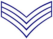 English: US Sergeant rank insignia in infantry white