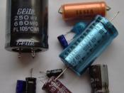 A selection of electrolytic capacitors.