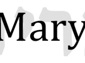 Mary superimposed on its Hebrew source מרים (Miryam/Miriam).