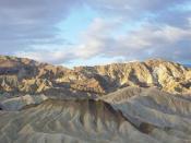 Zabriskie Point at sunrise in Death Valley
