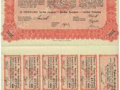 H.Cegielski Company Stock certificate, 1928