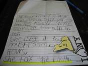 English: My son in 1st grade demonstrates even the tooth fairy is subject to New York taxes!