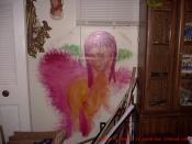 Nude Fairy Angel Girl Painting