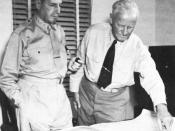 English: General Douglas MacArthur und Admiral Chester W. Nimitz