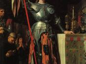 Joan of Arc at the Coronation of Charles VII. Oil on canvas, painted in 1854.