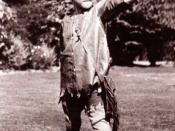 Michael Llewelyn Davies dressed as Peter Pan and photographed by J. M. Barrie at Rustington, August 1906