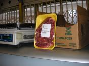 beef cheeks of kosher slaughtered animal