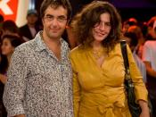 English: Canadian direct Atom Egoyan and actress wife Arsinee Khanjian, at the eTalk Festival Party, during the Toronto International Film Festival.
