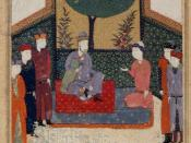 A miniature painting from the made in the year 1472, is used to illustrate the six poems by Attar of Nishapur.