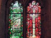 Lights 1 & 2, Stained Glass Created By Tom Denny To Commemorate Thomas Traherne - Hereford Cathedral.