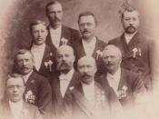 Ordfører Bernhard Konrad Bergersen (1847 - 1927) med Jenssen, Erbe og flere