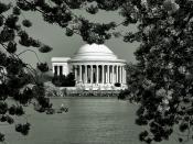 Jefferson Memorial in Black and White