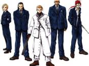 Rufus Shinra and the Turks. From left to right: Elena, Tseng, Rufus, Rude and Reno