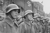 Red Army soldiers in the USSR (Union of Soviet Socialist Republics)