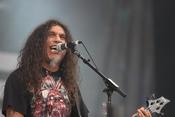 English: Tom Araya of Slayer on stage at Sonisphere Knebworth, August 2010