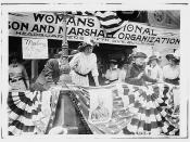 Daisy Harriman addresses a Democratic rally for Woodrow Wilson in Union Square, New York City