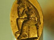 Gold ring representing Penelope waiting for Odysseus. Syria, last quarter of the 5th century BC.