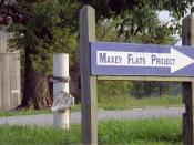 English: The entrance to the Maxey Flat Low Level Radioactive Waste site in Maxey Flat, Kentucky, USA. Taken in 2003 before the sign was removed by Homeland Security.