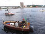 English: Joensuu Pielisjoki trolling Finnish championships