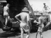 5ACS Personnel Paving a Taxiway RAAF Darwin 1959