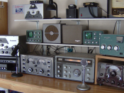Amateur station W6OM featuring all vintage radio equipment