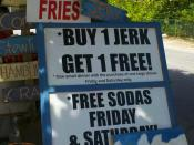 English: Jamaican Jerk stand outside of Bodden Town, Grand Cayman