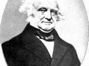 Photographic portrait of President of the United States Martin Van Buren in an oval format