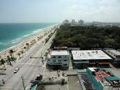 Fort Lauderdale Beach, Florida, USA, which lies along State Route A1A.
