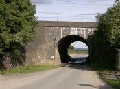 Bridego Bridge, Buckinghamshire, England. The scene of the 1963 Great Train Robbery