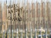 Mark Antony is a Coward