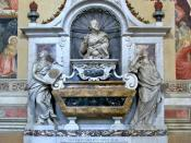 English: Galileo galilei tomb in the Santa Croce (holy cross) Basilica of Florence, Italy. Français : La tombe de Galilée, dans la Basilique Santa Croce de Florence, Italie.