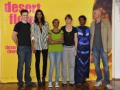 Cast and crew of Desert Flower. From left to right: Benjamin Herrmann, Liya Kebede, Soraya Omar-Scego, Sherry Horman, Waris Dirie, Peter Herrmann.