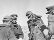 Rommel conversing with his staff near El Agheila, January 12, 1942.