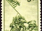 English: US Postage Stamp commemorating the Victory at Iwo Jima