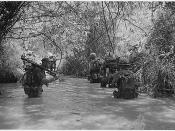 English: Marines of Company H, 2nd Battalion, 4th Marine Regiment take to the water as they move to join up with other elements of their battalion. Operation Hastings, Dong Ha, Vietnam.