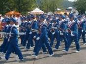 English: A cropped photo of the University of Florida Marching Band