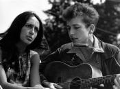English: Civil Rights March on Washington, D.C. closeup view of vocalists Joan Baez and Bob Dylan., 08/28/1963 Español: Bob Dylan con Joan Baez en la Marcha por los Derechos Civiles en Washington, D.C. (1963) Italiano: Joan Baez e Bob Dylan durante la mar