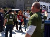 English: Kathy Griffin arriving at the rally to Repeal