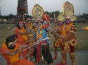 English: This is a scene of Dussehra in chandigarh.