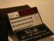 KL-41 Off-Line Encryption Adoption of Language Translator