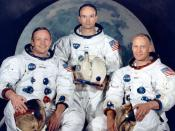 The Apollo 11 crew portrait. Left to right are Neil Armstrong, Michael Collins, and Buzz Aldrin.