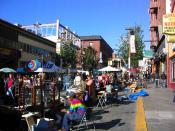 Telegraph Avenue during a street fair