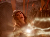 Alti battling Xena and Gabrielle as they use the power of the Mehndi to defeat her