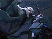 Megatron (left) faces Starscream (right).