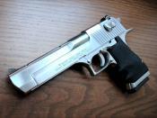 English: Desert Eagle 50 caliber brushed chrome