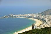 English: Copacabana Beach Rio de Janeiro view from Sugar Loaf 2010