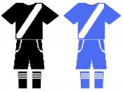 Shirt, pants and stockings Anti-bullfighting in Spain Team T 1 is: T, Black Pants, Black, Socks, Black. 2 T is: T, Blue Jeans, Blue Sox, Blue.