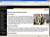 e-strategy.com Old Interior Page - Screenshot 8/28/07